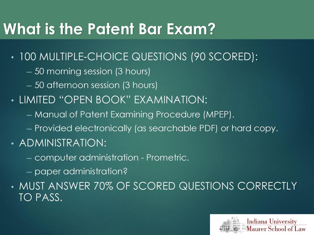 What is the Patent Bar Exam