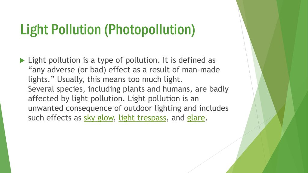 Light Pollution & Climate Change - ppt video online download