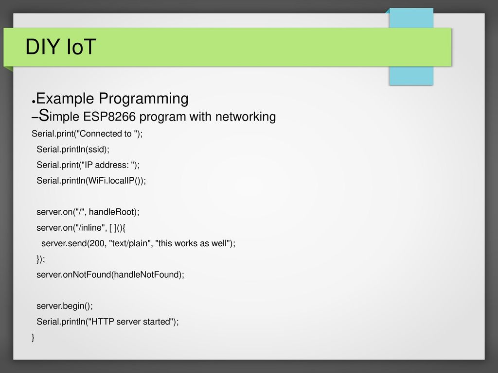 DIY IoT (Internet of Things) - ppt video online download