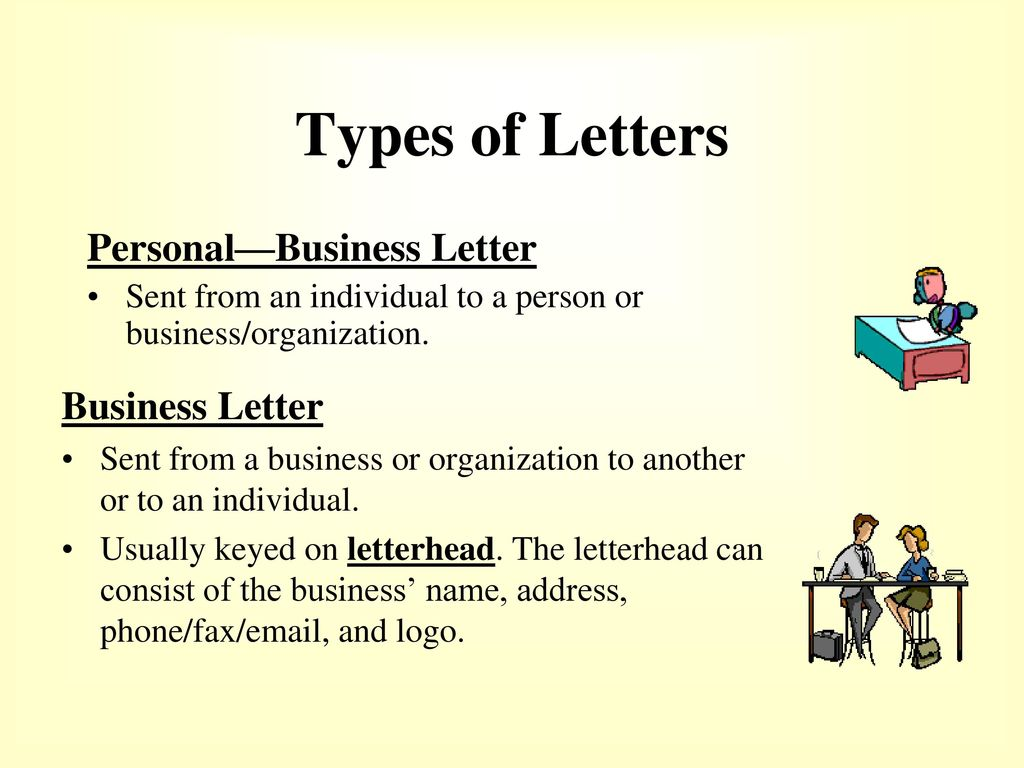 types of letters how to format a business letter ppt 25361 | Types of Letters Personal%E2%80%94Business Letter Business Letter