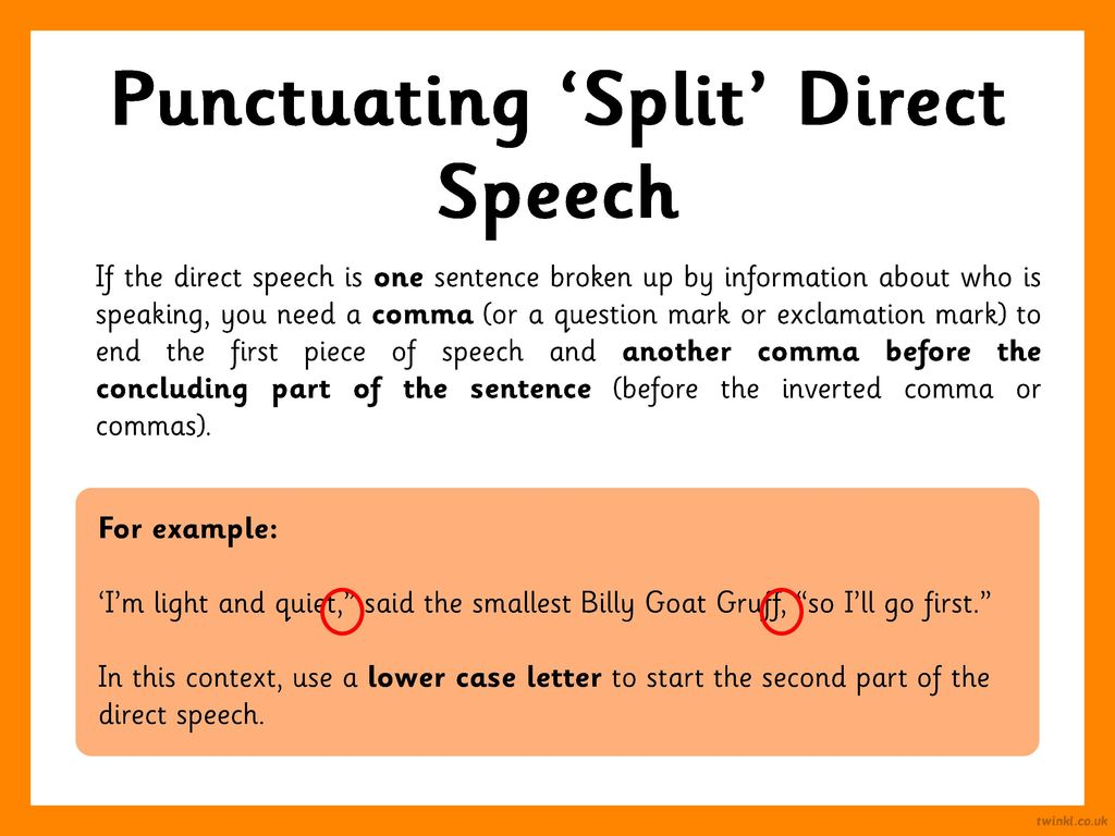 Start Speech With Capital Letter If Broken In Middle