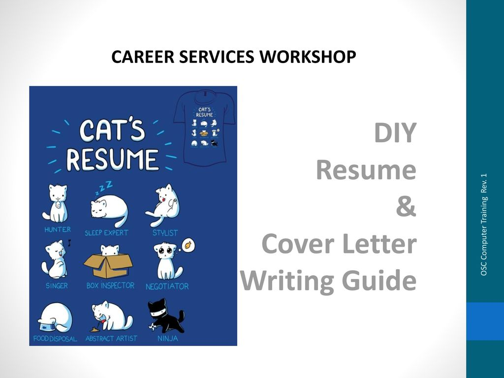 DIY Resume & Cover Letter Writing Guide - ppt download