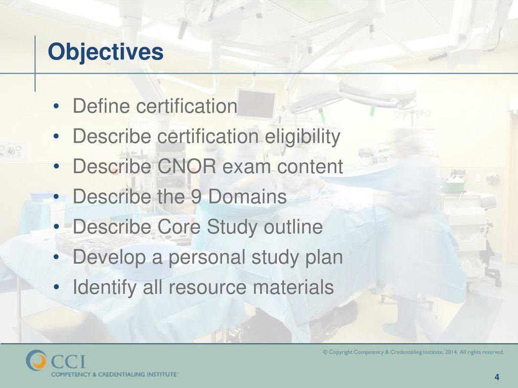 CNOR Core Study Program: Overview - ppt download