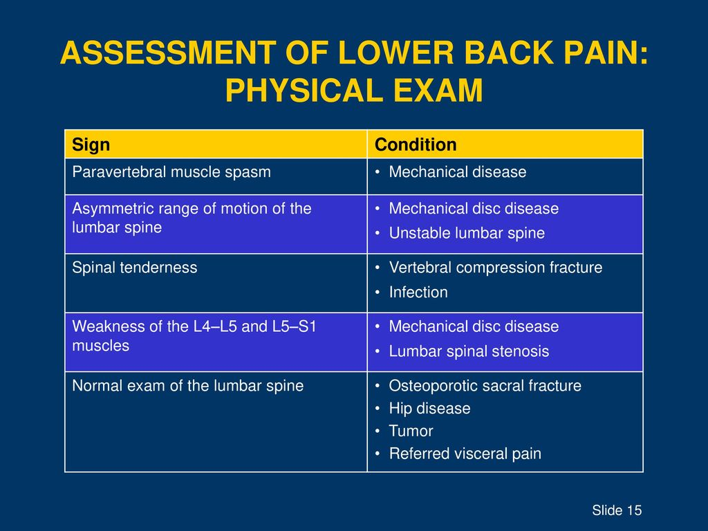 BACK AND NECK PAIN Topic Suggestions for Lecturer -1-hour lecture