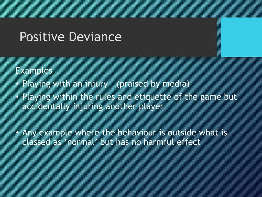 examples of deviance in sport