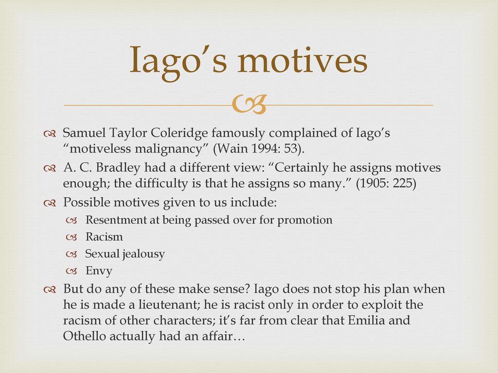 coleridge iago