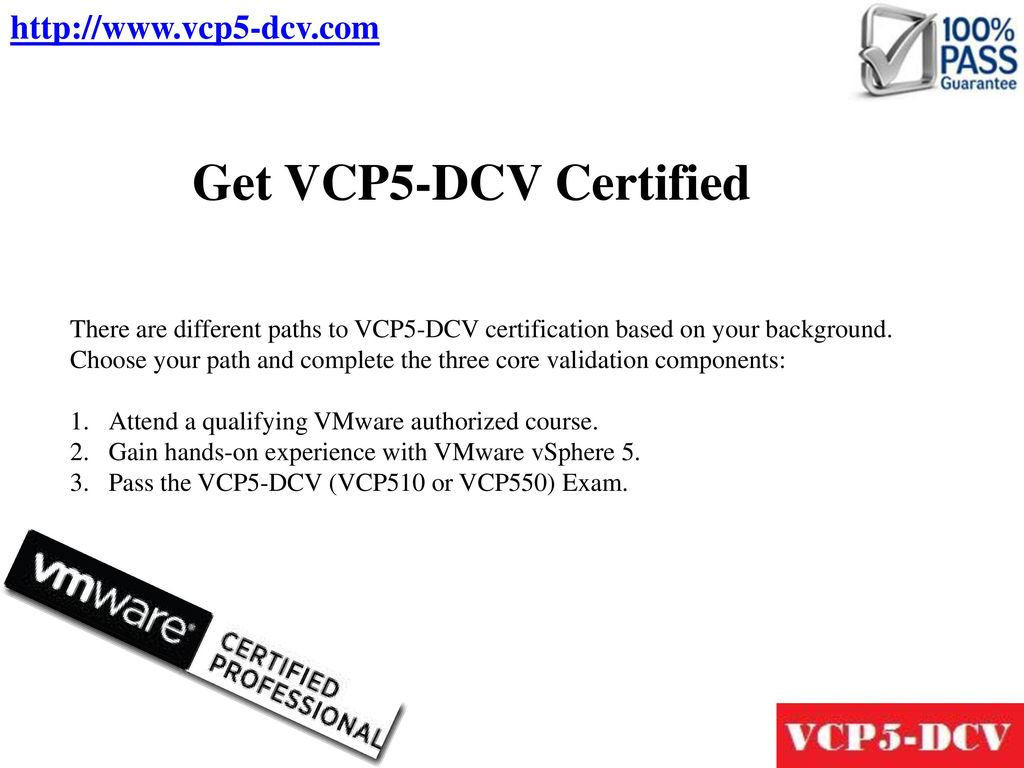 Vmware Certified Professional 5 Data Center Virtualization Vcp5