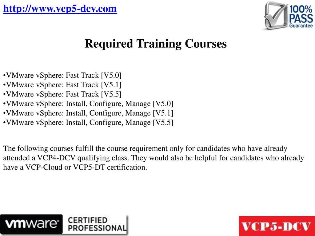 Vmware Certified Professional 5 Data Center Virtualization Vcp5