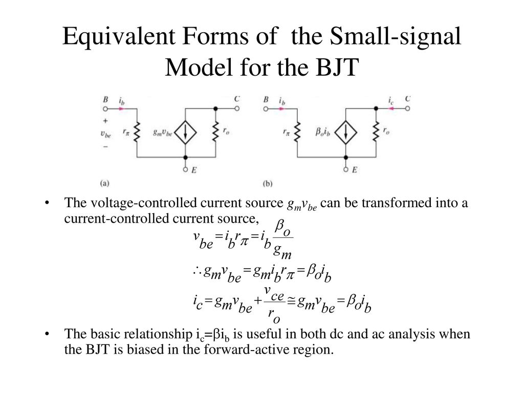 Chapter 13 Small Signal Modeling And Linear Amplification Ppt Ac Coupling Capacitors In Video Designs Electronic Products 16 Equivalent