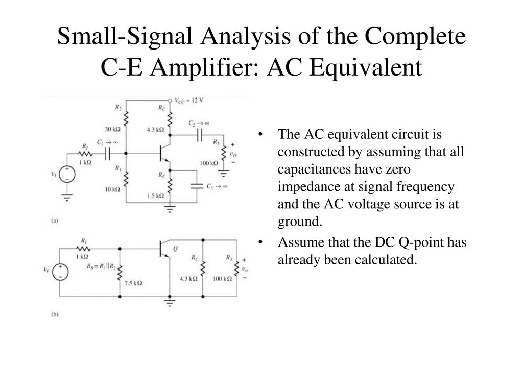 Chapter 13 Small Signal Modeling And Linear Amplification Ppt Figure 3 Accoupling Enables This Circuit To Tolerate The Zero Source 18