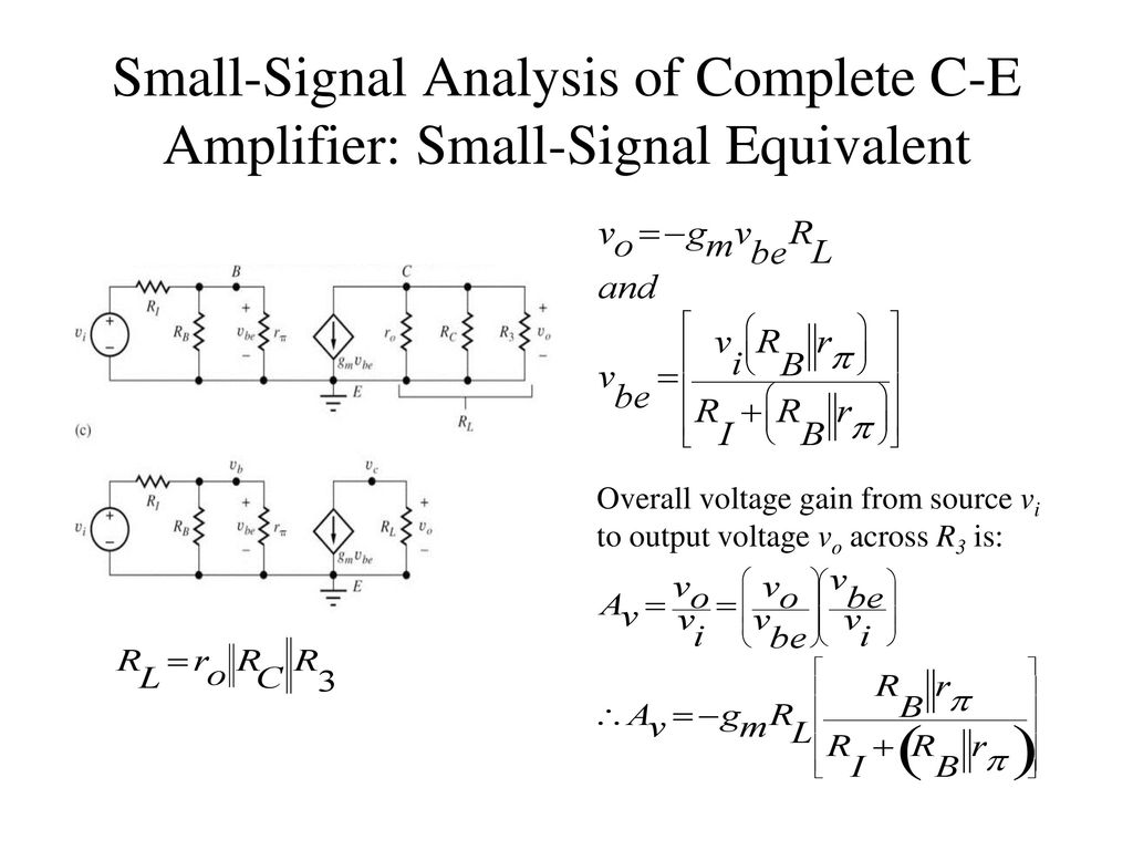 Chapter 13 Small Signal Modeling And Linear Amplification Ppt Ac Coupling Capacitors In Video Designs Electronic Products 19