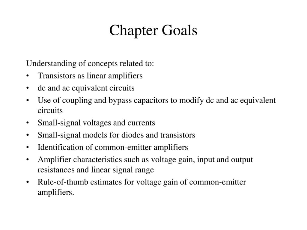 Chapter 13 Small Signal Modeling And Linear Amplification Ppt Simple Transistor Preamplifier Circuits 2