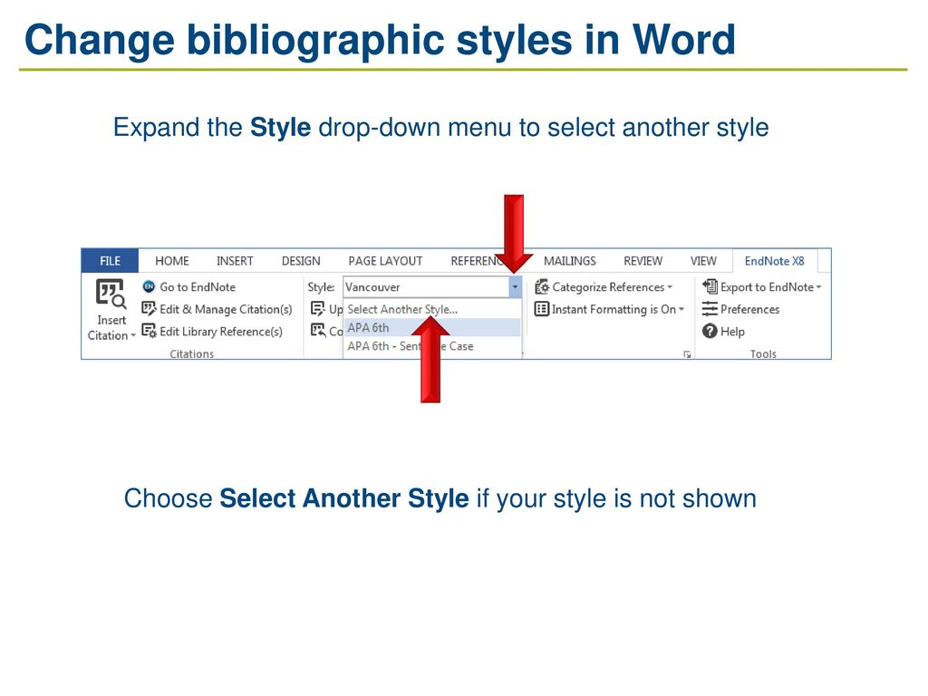 how to change the citation style in word