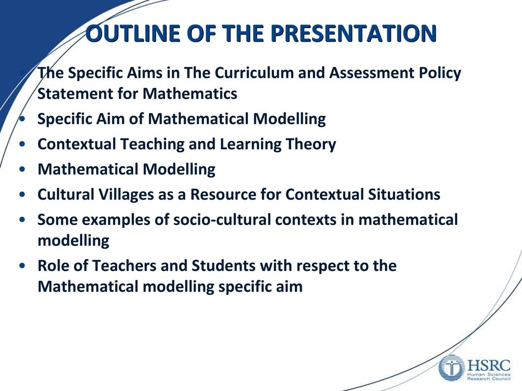 Mathematical Modelling in Secondary Schools in South Africa