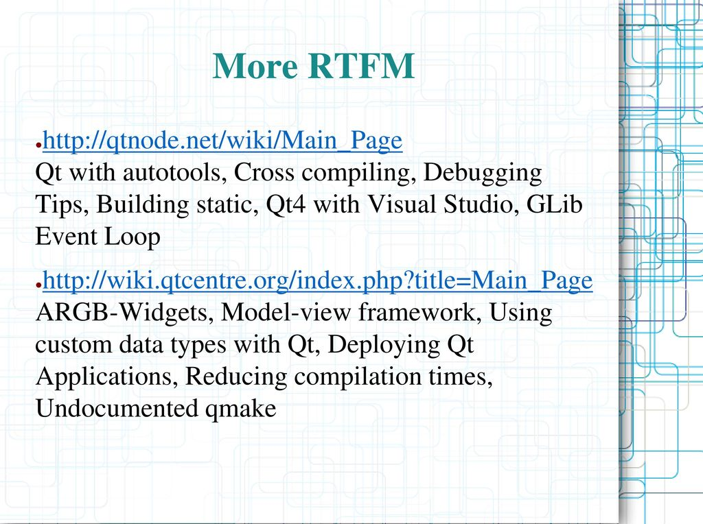 Introduction to Qt4 Diego Iastrubni - (only 71 slides