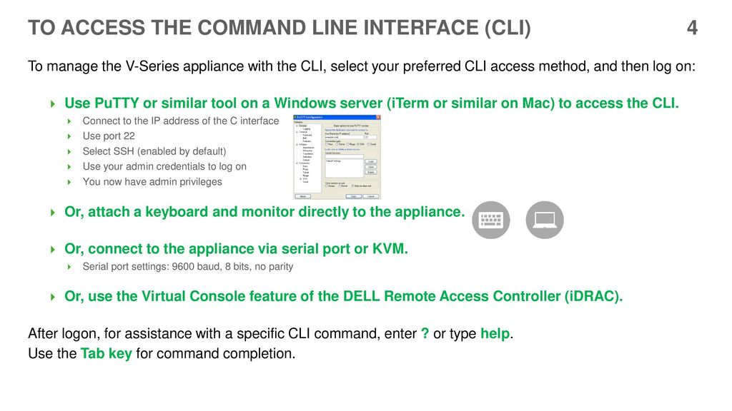 V-Series Appliances A Visual Primer for the Version 8 3 CLI