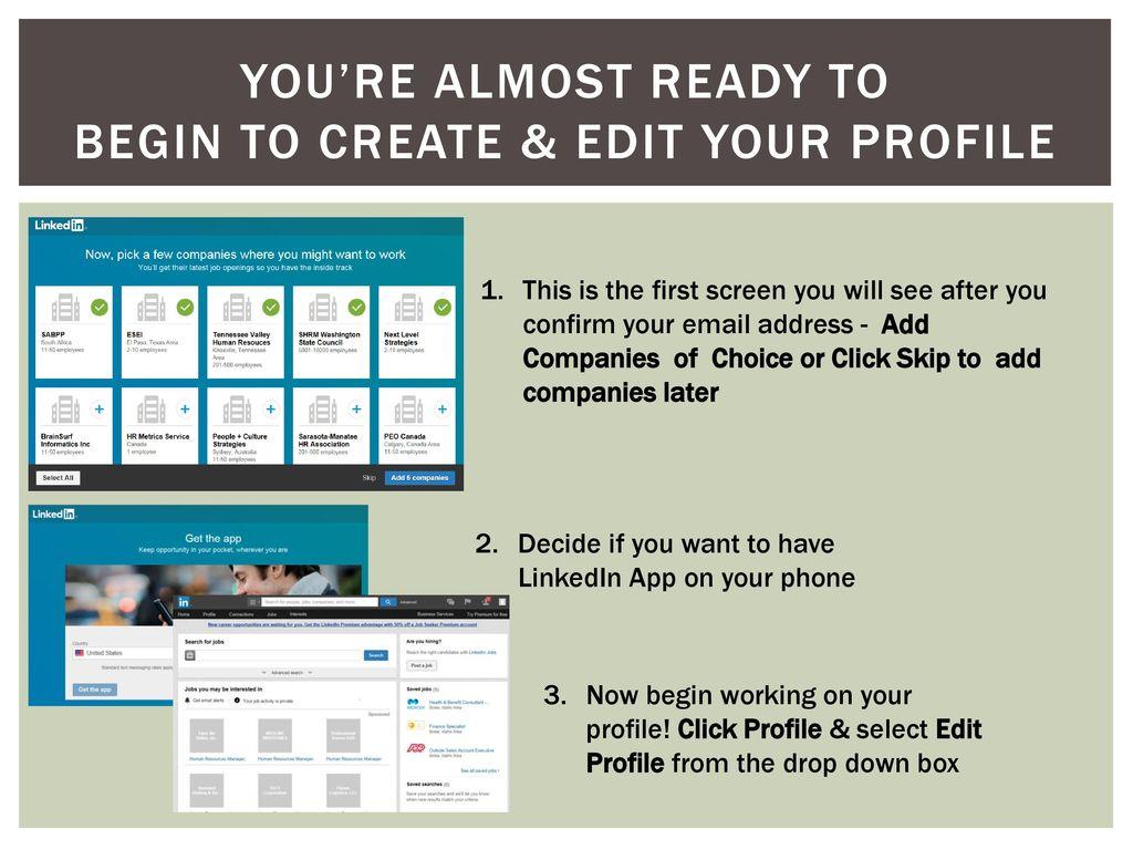 Global Talent Idaho Step-by-step Guide LinkedIn profile set-up - ppt
