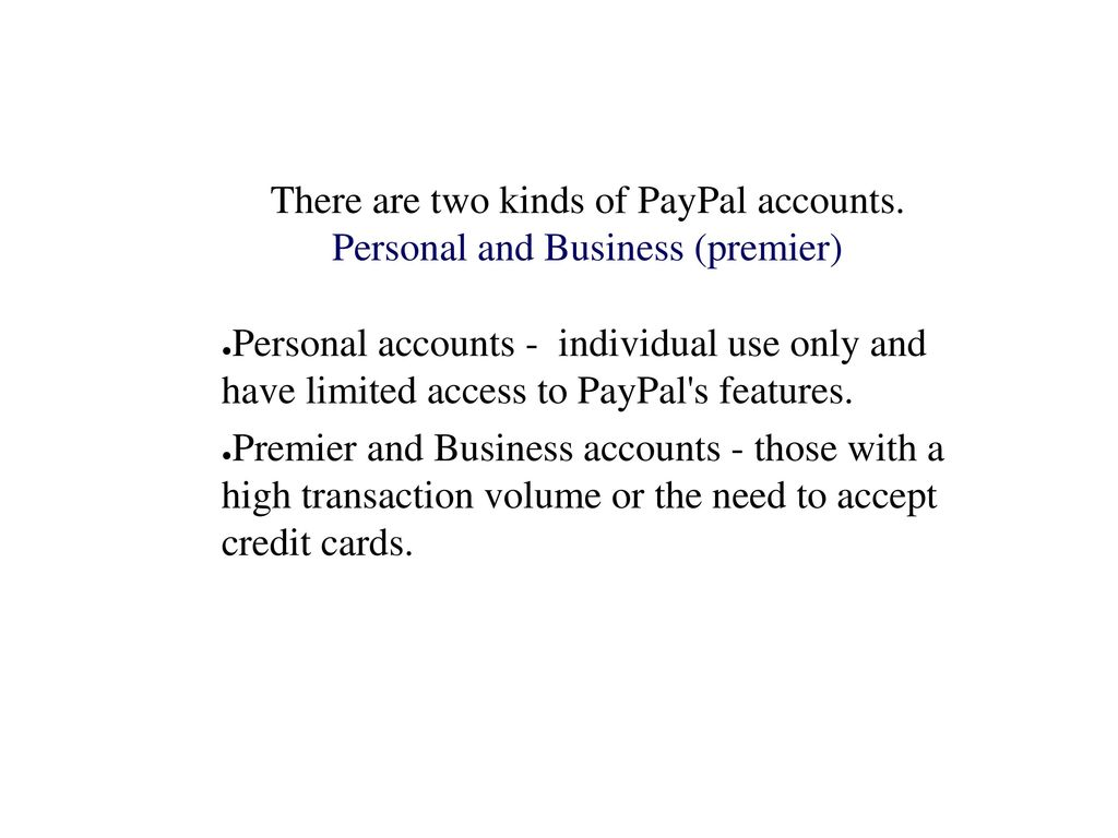 Paypal PayPal is an e-commerce business allowing payments and money