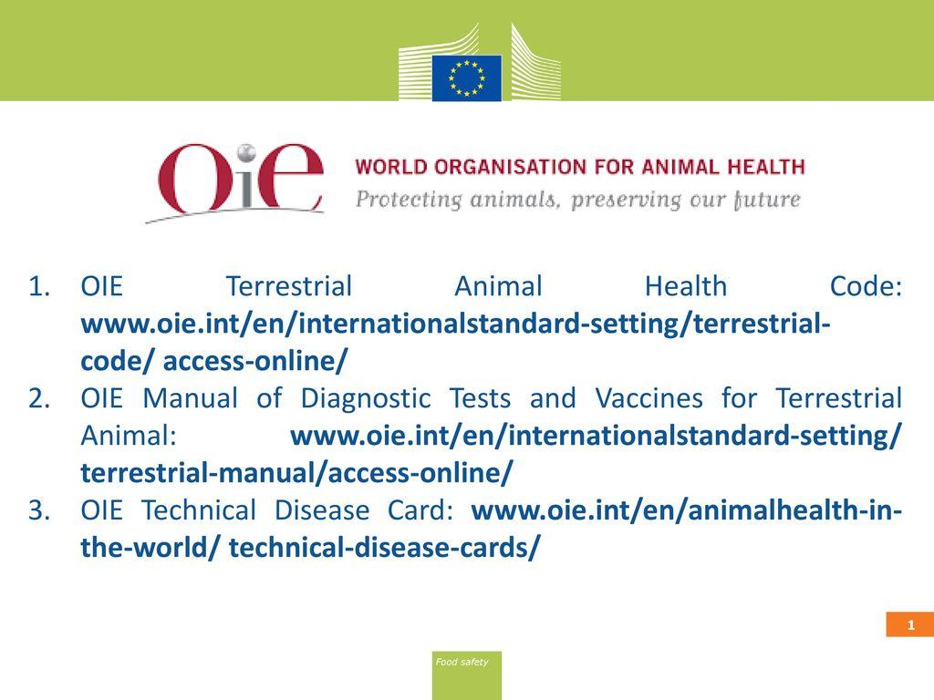 oie terrestrial animal health code www oie ppt download rh slideplayer com
