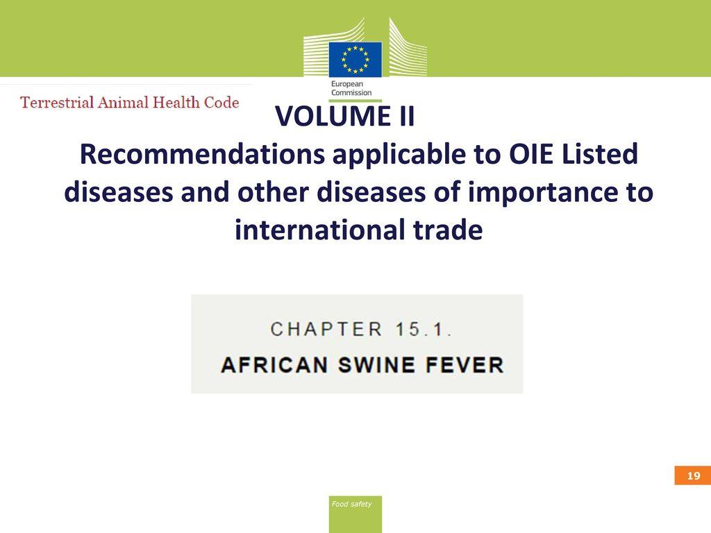 oie terrestrial animal health code www oie ppt download rh slideplayer com oie terrestrial manual 2017 oie terrestrial manual 2016