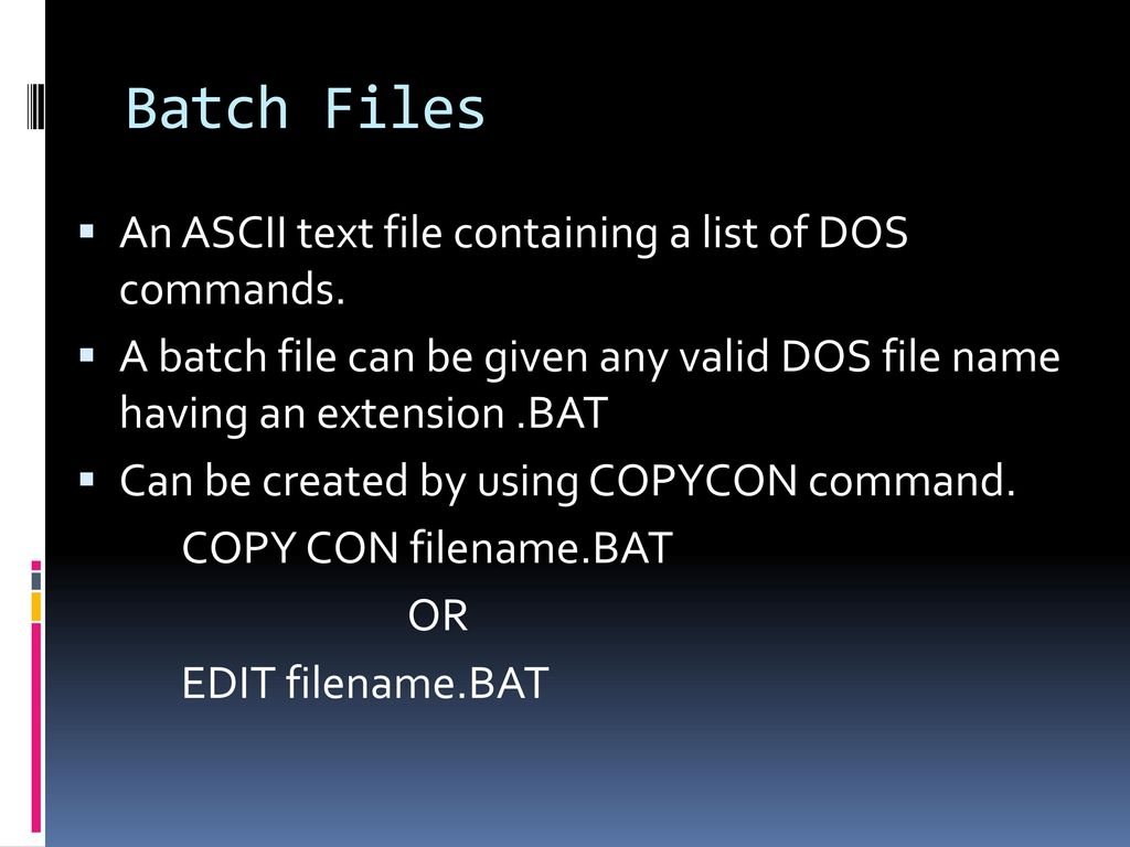 External Commands Are stored in some external files which are stored
