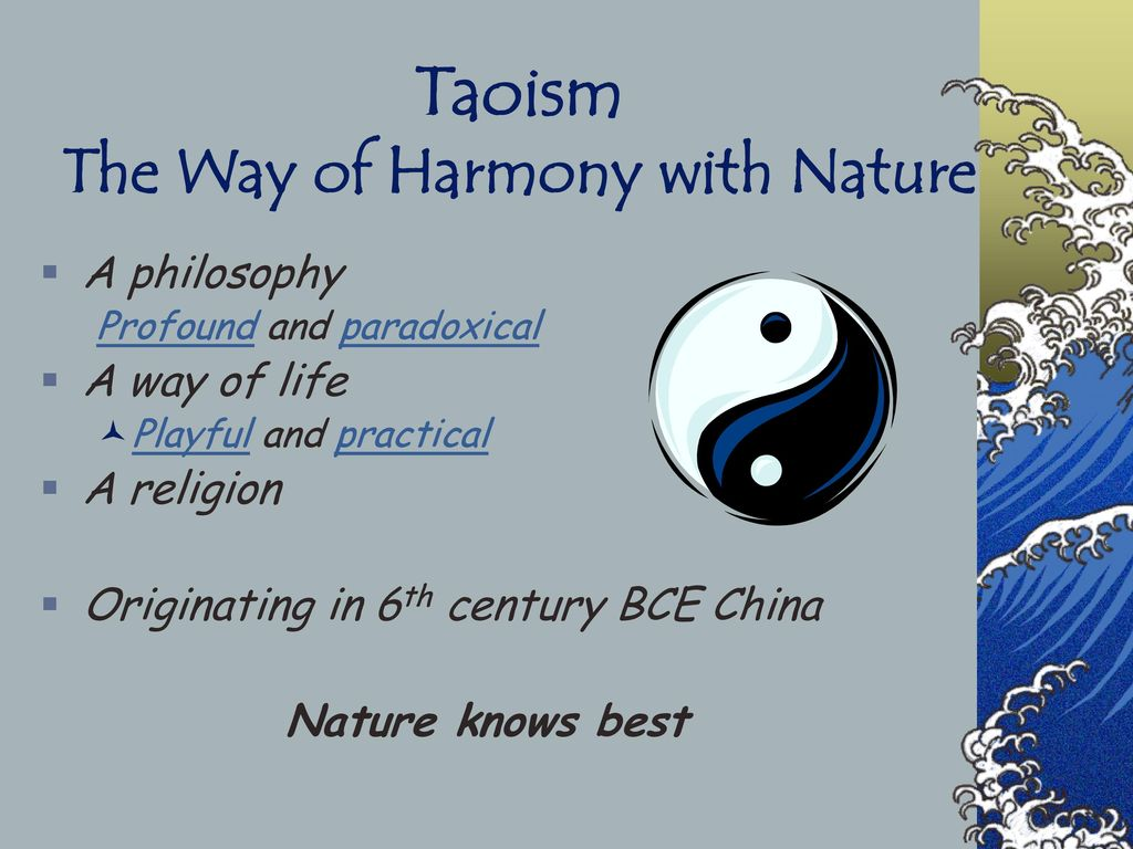 taoism the way of harmony with nature ppt download rh slideplayer com Clip Art User Guide User Guide Template