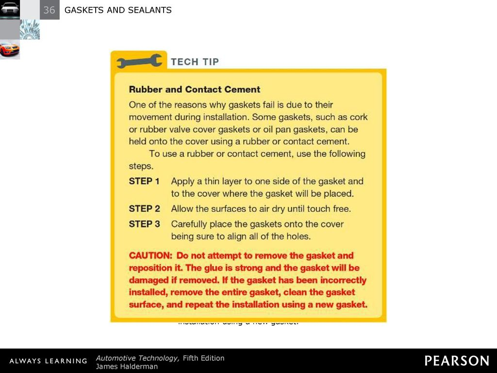 36 GASKETS AND SEALANTS GASKETS AND SEALANTS  - ppt video