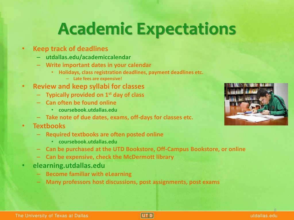 Utd Academic Calendar Spring 2020.What To Expect Your First Month At Utd Ppt Video Online Download