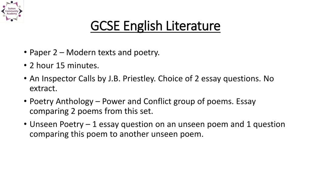 Gcse English Literature Revise Right Year Ppt Download  Gcse English Literature
