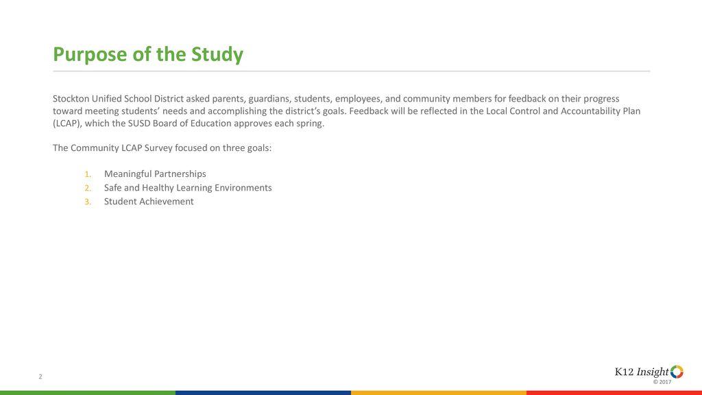 Community Lcap Survey Stockton Unified School District Ppt Download