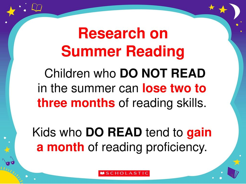 THE IMPORTANCE OF SUMMER READING - ppt download