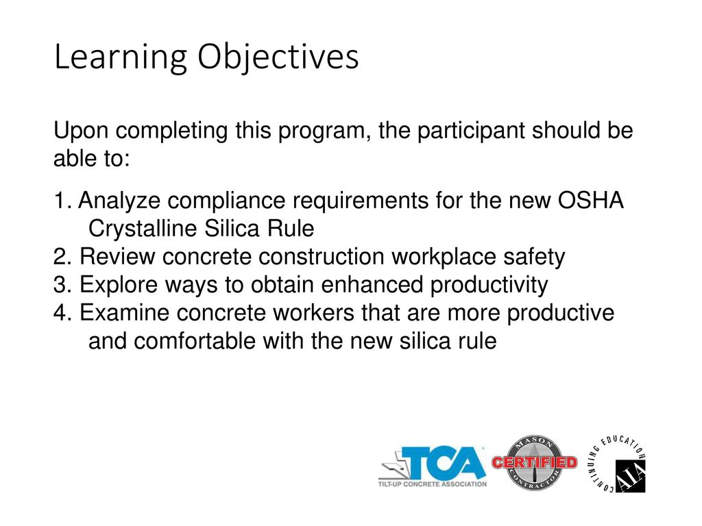 OSHA's Crystalline Silica Rule for Construction Includes