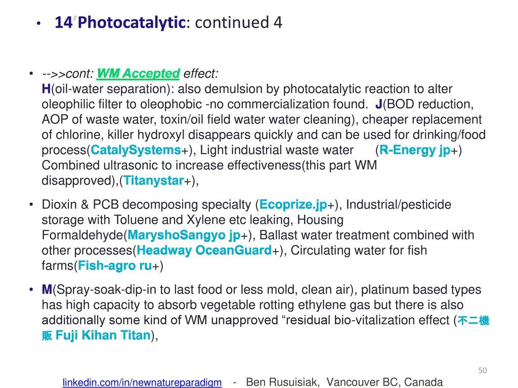 50 14'Photocatalytic: continued 4