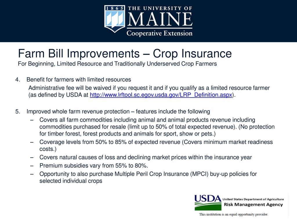 Do I Need Crop Insurance? - ppt download