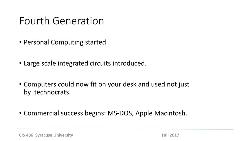 Fourth Generation Personal Computing started.