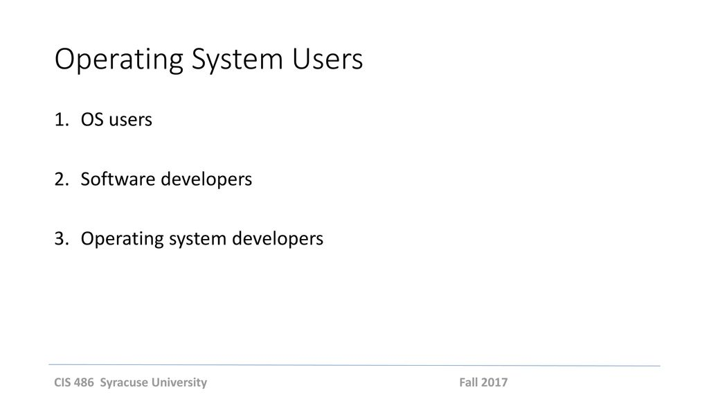 Operating System Users