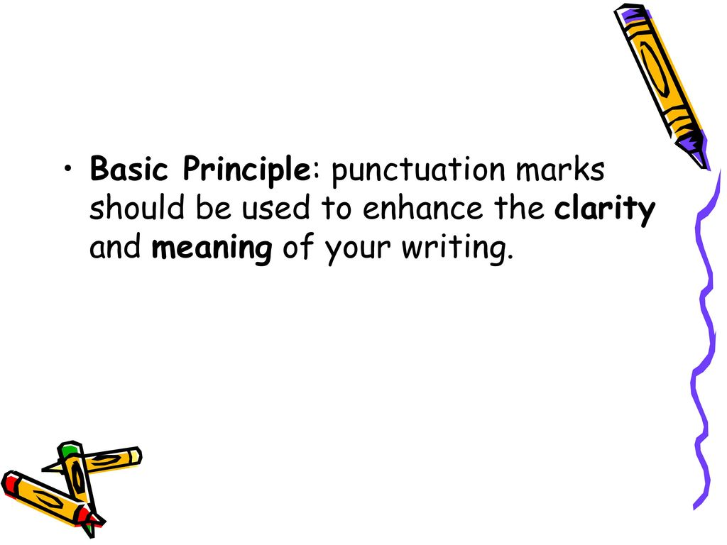 A comma in English: basic principles of punctuation