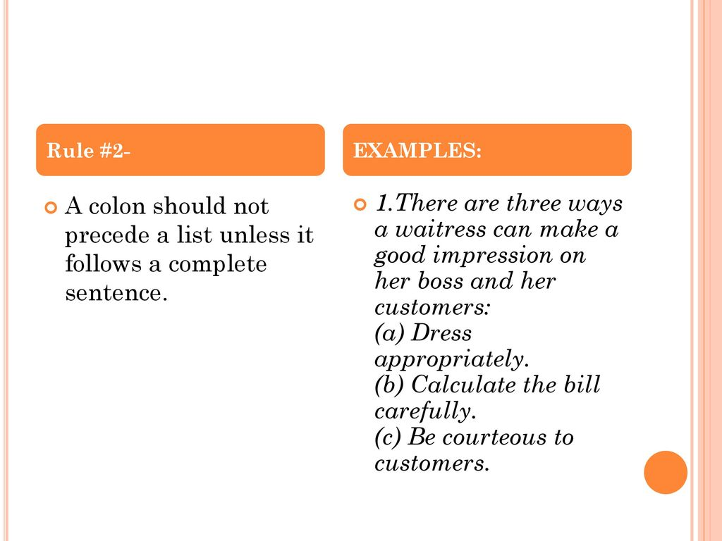 """Colons after a single word (e. G. """"example:"""") english language."""