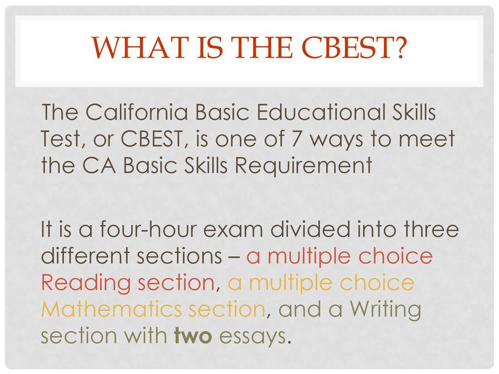 CBEST California Basic Educational Skills Test - ppt download