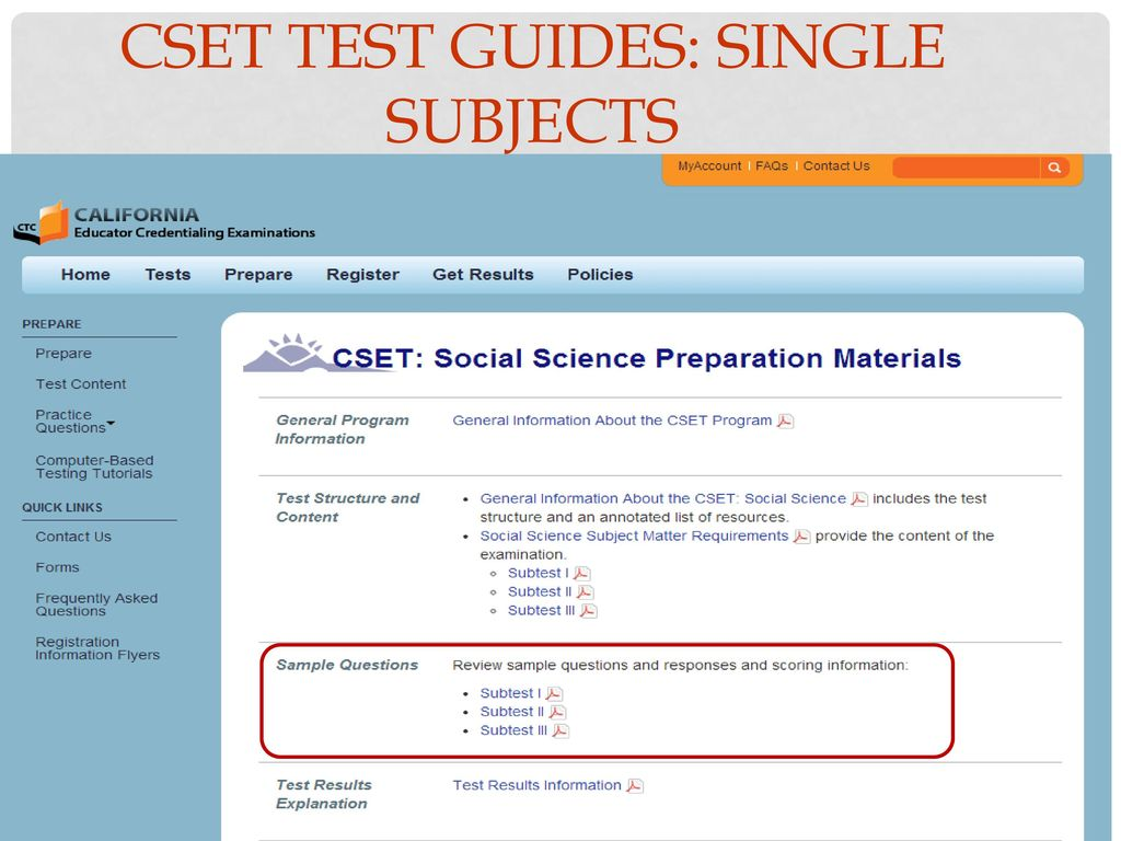 56 CSET Test Guides: Single Subjects