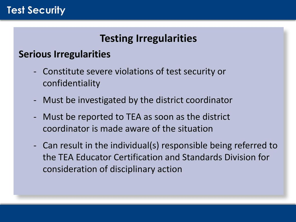 Testing Security & Procedures Training - ppt download
