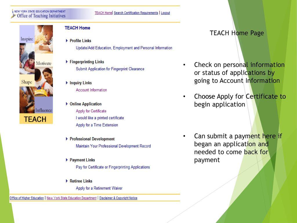 New York State Department Education Teacher Certification