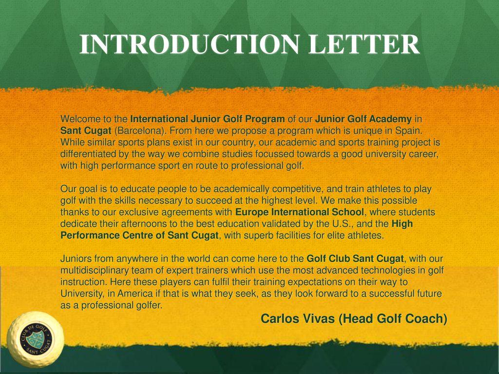 International junior golf program ppt video online download 3 introduction spiritdancerdesigns Images