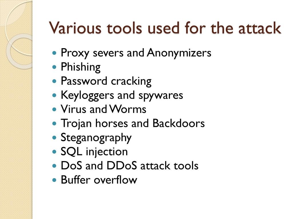 Tools and Methods used in Cybercrime - ppt download
