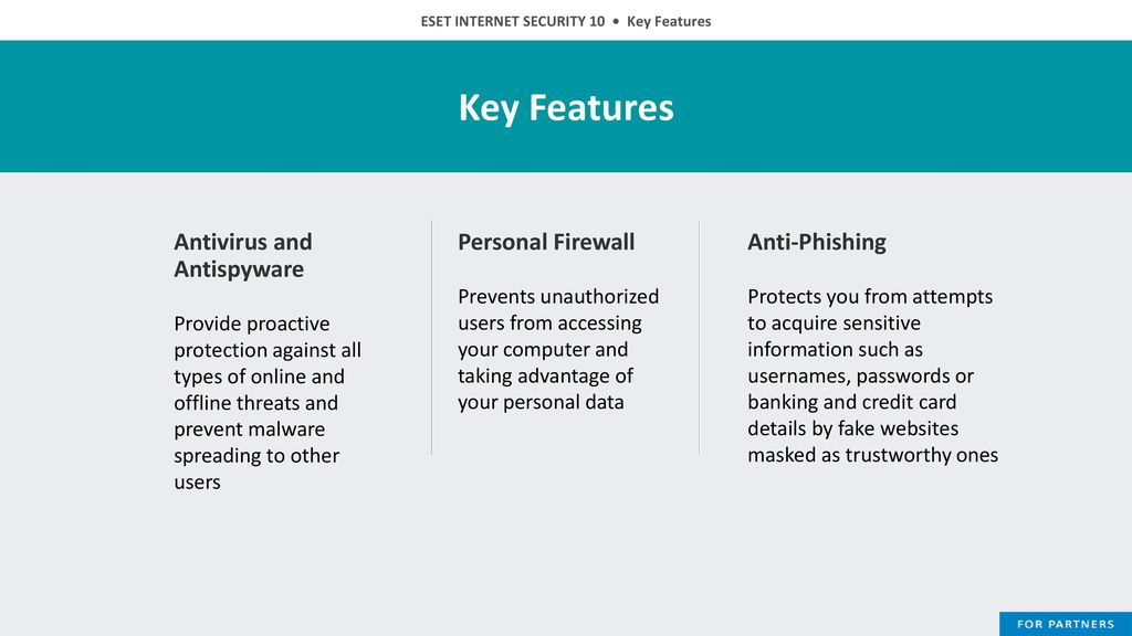 ESET INTERNET SECURITY 10 Comprehensive internet security