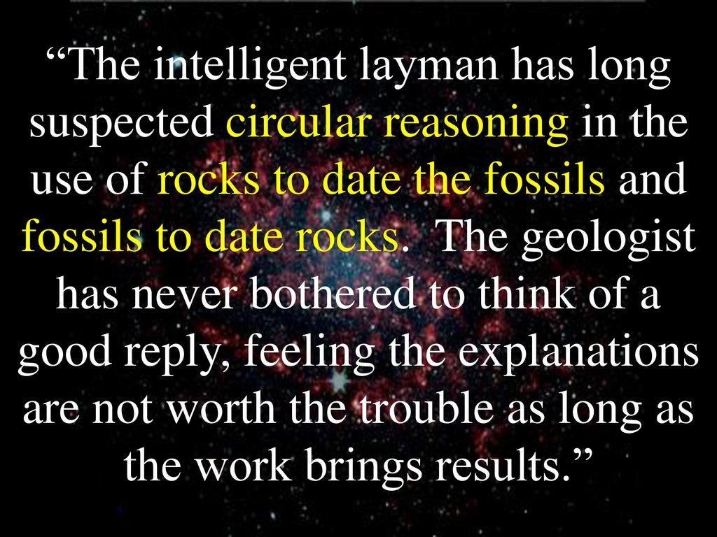 fossil dating circular reasoning