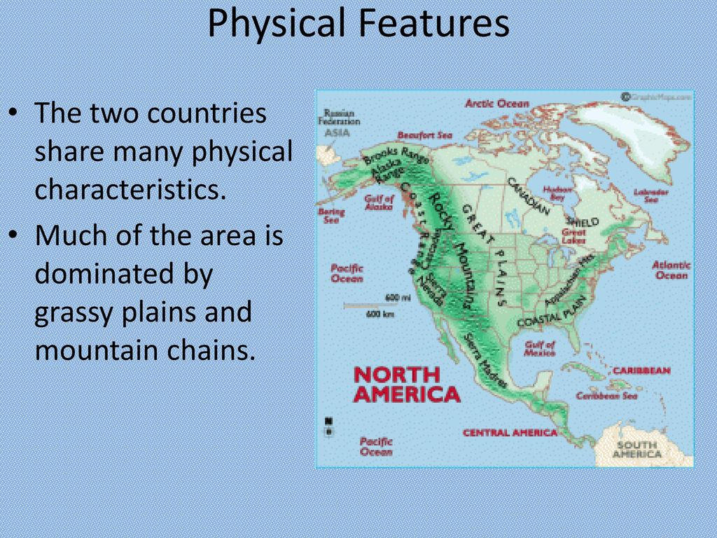 US and Canada: Physical Geography - ppt download
