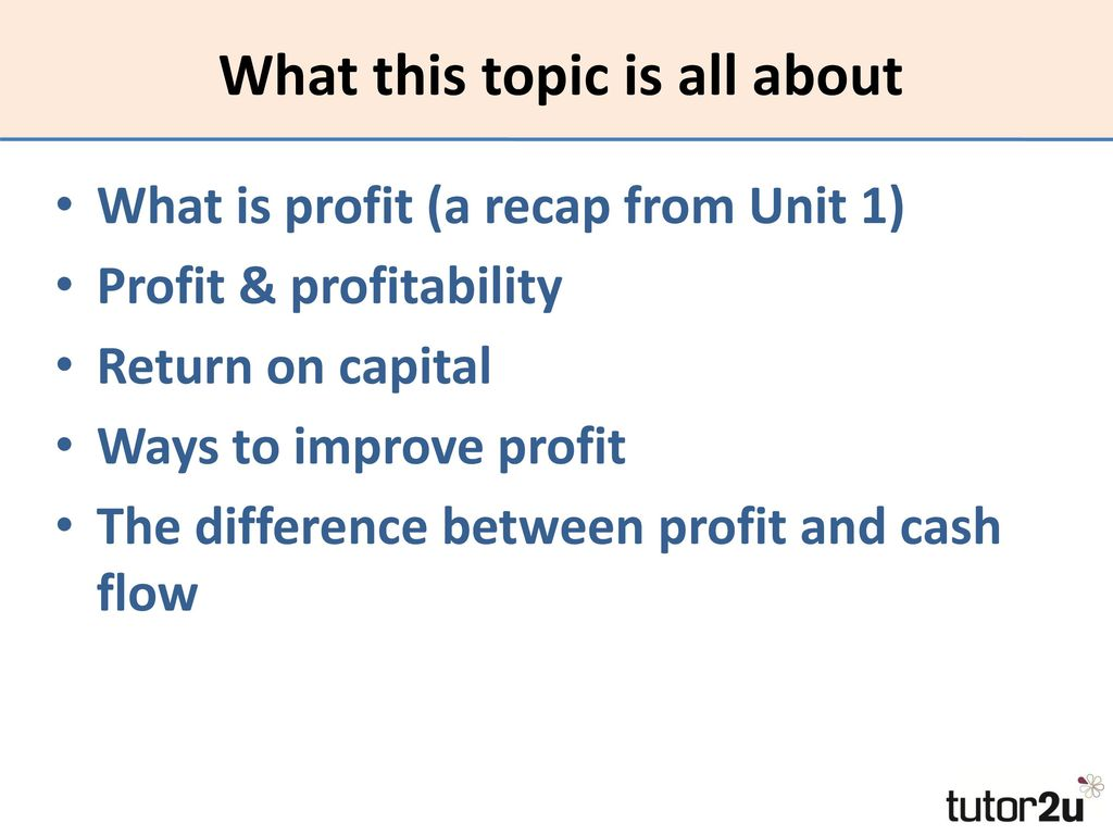What is profit 42