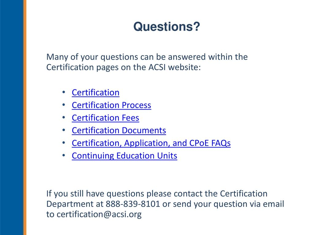 Acsis Certification Process For K 12 Teachers And Administrators