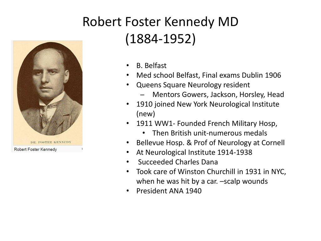 Robert Foster Kennedy MD Harold George Wolff MD Robert J